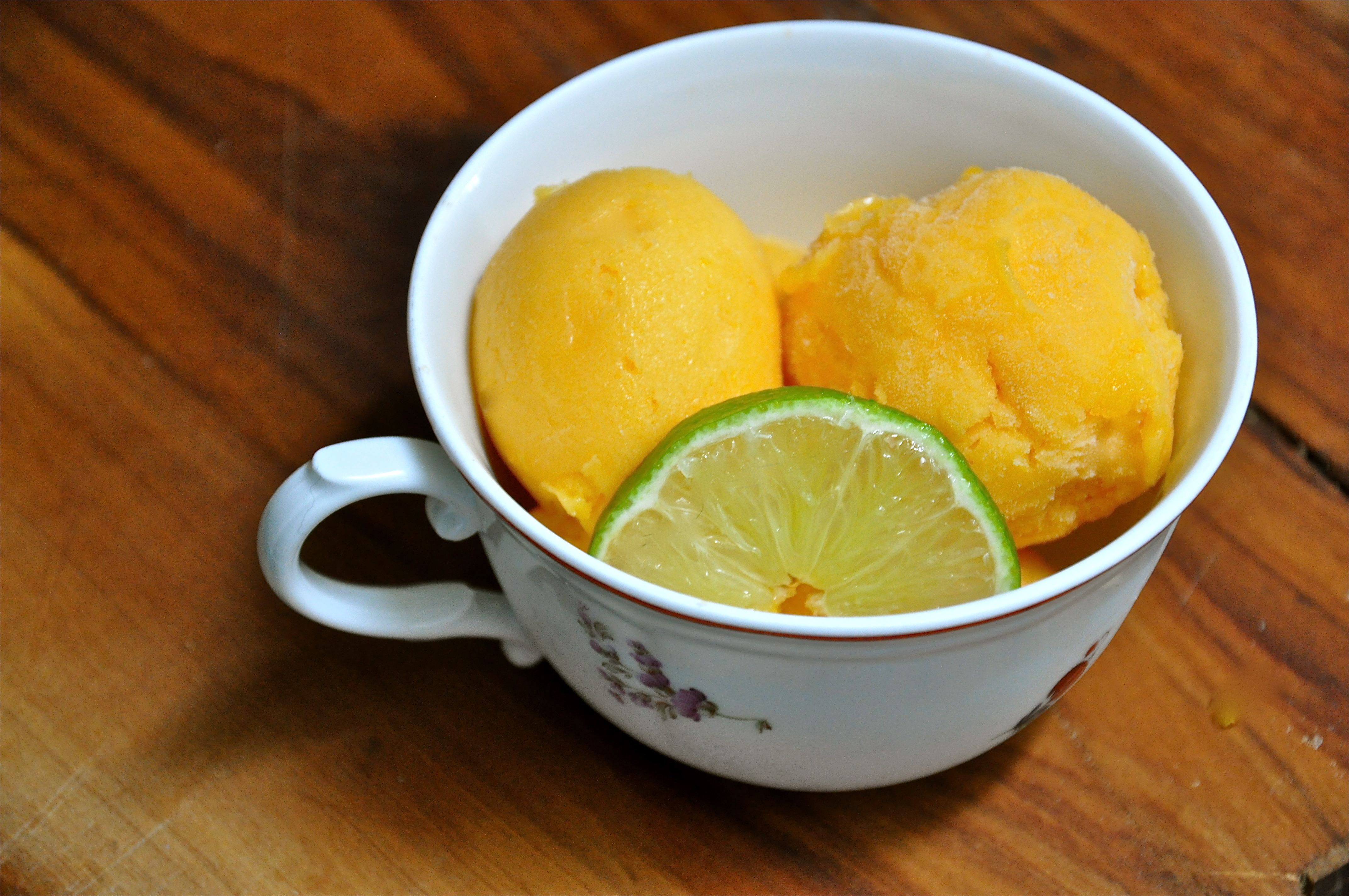 Homemade Champagne Mango-Lime Sorbet | youngDCliving